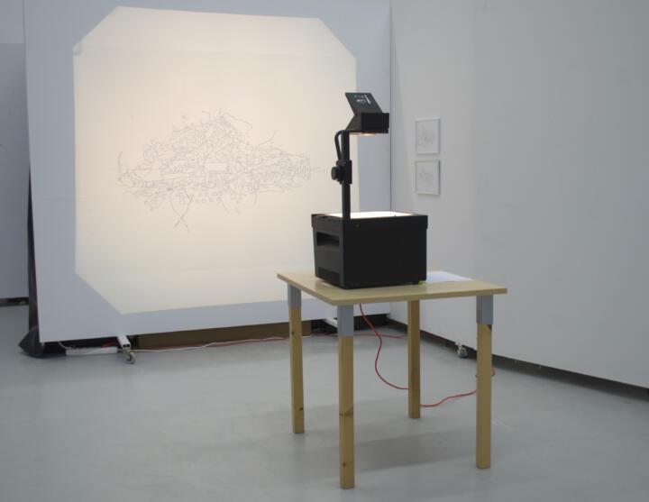 Joi Wengström, Borrowed lines: translation and transposition of memory, installation, Kungl. Konsthögskolan 2021.