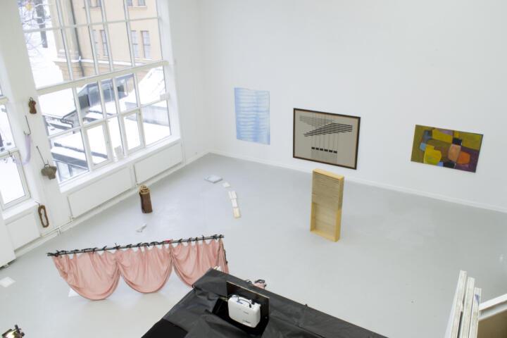 Terrarium, Förstaårsutställningen på Kungl. Konsthögskolan 2021. Skulpturmodellsalen